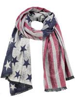 Key Largo Herren / Damen Unisex Schal COAST NATION scarf Tuch WA00069 blue-red