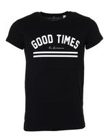 Befamous Herren Club Party T-Shirt GOOD TIMES schwarz rundhals