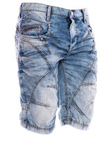 Cipo & Baxx Herren Jeans-Shorts Vintage blau destroyed Bermuda C-90 Caprijeans