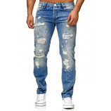 Redbridge Herren Jeans Regular Fit RB-157 destroyed-used blau verwaschen