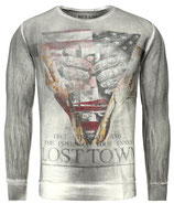 Key Largo Herren Pullover T-Shirt Longsleeve LOST TOWN MSW00026 Vintage anthrazit