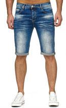 Redbridge Herren Jeans-Shorts Vintage Shorts Caprijeans destroyed Bermuda M4845 blau