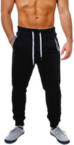 Young & Rich Herren Jungs Jogginghose Traininghose Sweatpants Hose 3313 schwarz