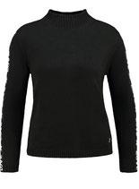 Key Largo Damen Frauen warme Pullover FOREVER Tube Stehkragen langarm WKN00051 schwarz