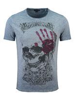 Key Largo Herren T-Shirt rundhals Vintage TOUCH round kurzarm MT00305 steel blue