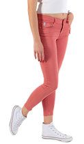 M.O.D by Miracle of Denim Damen Jeans Hose Chino SINA Skinny Anker Ibiscus rot