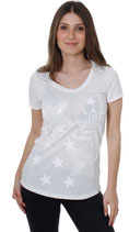 Key Largo T-Shirt Sexy Top Oberteil FOG T00690 weiß offwhite
