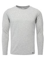 Key Largo Herren T-Shirt longsleeve CHEESE Langarm MLS00033 silver meliert