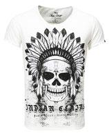 Key Largo Herren T-Shirt V-Neck Vintage INDIAN kurzarm MT00102 weiß offwhite