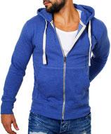 Young & Rich  Sweatjacke Sweatshirt Pullover Weste Jacke mit Kapuze 903 blau