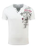 Key Largo Herren T-Shirt rundhals Vintage KNIGHT kurzarm MT00287 mil. Style weiß