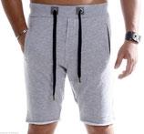 Young & Rich Baggy Jogging Sweat Shorts Bermuda 3323 grau