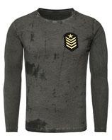 Key Largo Herren T-Shirt Longsleeve DESERT STORM Militär Style MLS00018 Vintage anthrazit