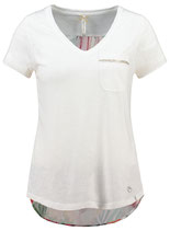 Key Largo Damen T-Shirt  Tunika FRAGRANCE V-Neck WT00216 weiß offwhite