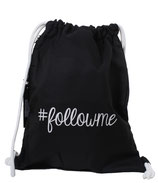 Be Famous Turnbeutel Gym-Bag Sportbeutel Beutel Rucksack Must have BG01 schwarz Followme