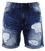 Shine Original Jeans Shorts Bermuda 55041 TRW vintage destroyed blau