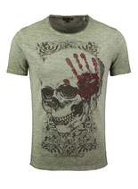 Key Largo Herren T-Shirt rundhals Vintage TOUCH round kurzarm MT00305  grün mil. green