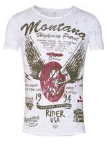 Key Largo Herren T-Shirt rundhals Vintage PATROL round kurzarm MT00196 weiß