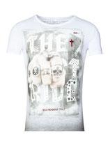 Key Largo Herren T-Shirt rundhals Vintage LAST RIDE round kurzarm MT00179 weiß
