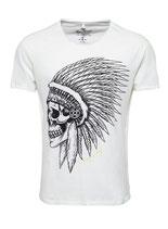 Key Largo Herren T-Shirt rundhals Vintage CHIEF round kurzarm MT00208 weiß offwhite