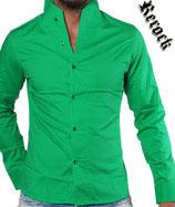 Rerock Hemd NIGHTY langarm 75110 grün