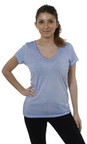 Key Largo Damen T-Shirt Top Oberteil AURA WT00097 kurzarm light-blue
