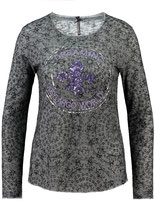 Key Largo Damen T-Shirt Pullover Rundhals langarm longsleeve Oberteil ILLUSION WLS00250 round anthrazit