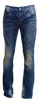 Redbridge Jeans Hose dunkelblau verwaschen mit dicke Naht RB-170