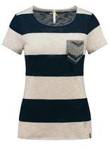 Key Largo Damen T-Shirt  Tunika JANA Vintage WT00225 gestreift navy