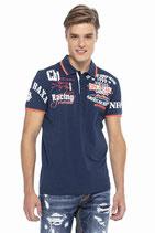Cipo & Baxx Herren Jungen Party T-Shirt Polo Shirt CT603 kurzarm dunkelblau navy