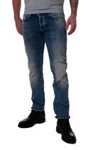 M.O.D Miracle of Denim Herren Jeans Hose THOMAS Comfort alava blue blau verwaschen mit Reißverschluss