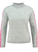 Key Largo Damen Frauen warme Pullover FOREVER Tube Stehkragen langarm WKN00051 grau meliert
