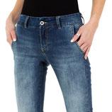 Place du Jour Jeans Skinny Jeans Hose Women Röhrenjeans KL-J-98040 blau