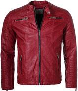 Redbridge Vintage Übergangs-Jacke Biker Kunstleder M6028  rot