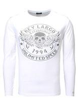 Key Largo Herren T-Shirt longsleeve Pullover DANGER Langarm MLS00032 weiß