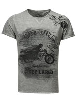 Key Largo Herren T-Shirt rundhals Vintage IRON SPEED kurzarm MT00118 silver grau