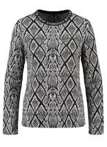 Key Largo Damen Shirt Pullover Rundhals langarm longsleeve Oberteil ALICE WLS00243 round offwhite-schwarz