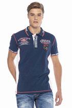 Cipo & Baxx Herren Jungen Party T-Shirt Polo Shirt CT605 kurzarm dunkelblau navy
