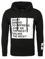 Key Largo Herren Pullover Sweatshirt Hoodie Longsleeve IMPRESS MSW00015 schwarz
