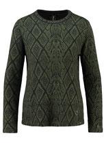 Key Largo Damen Shirt Pullover Rundhals langarm longsleeve Oberteil ALICE WLS00243 round khaki-schwarz
