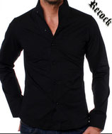 Rerock Hemd NIGHTY langarm 75110 schwarz