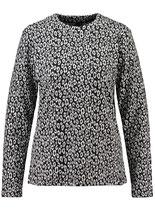 Key Largo Damen Shirt Pullover Rundhals langarm longsleeve Oberteil ANNA WLS00242 round offwhite-schwarz
