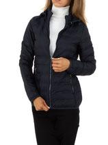 Nature Damen Übergangs-Jacke leicht gesteppt Jacke mit abnehmbare Kapuze 5476 dunkelblau