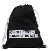 Be Famous Turnbeutel Gym-Bag Sportbeutel Beutel Rucksack Must have BG01 schwarz Gehleben