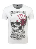 Key Largo Herren T-Shirt rundhals Vintage TOUCH round kurzarm MT00305 weiß