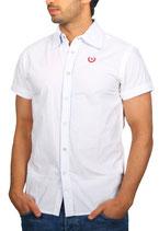 Crazy Pepper Herren Hemd Freizeit-Hemd kurzarm ARKLEG 881-6701 weiß