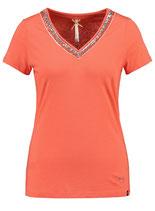 Key Largo Damen T-Shirt  MILA V-Neck WT00211 orange