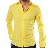 Redbridge Herren Hemd Langarm R-2111 gelb