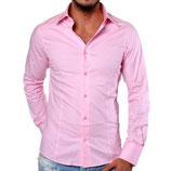 Redbridge Herren Hemd Langarm R-2111 pink rosa