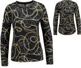 Key Largo Damen T-Shirt Pullover Rundhals langarm longsleeve Oberteil BRILLIANT WLS00219 round schwarz